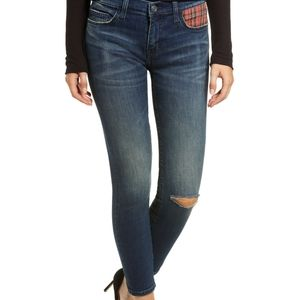 Current/Elliot The Siletto Skinny Jean Red Tartan
